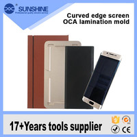 Hot Sale LCD Repair Golden Metal Mould Mold fits bezel Alignment LOCA UV Glue For S6 Edge + Plus S6 Edge S7
