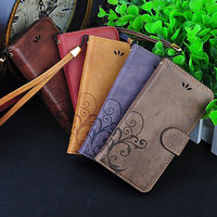 China Manufacturer Wholesale Retro Pattern Wallet Stand Leather Flip Cover For TCL P560M P561U Card Slot Case