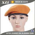 Military 100% Wool Leather Binding Berets