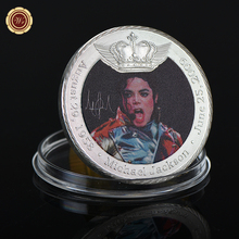 WR 1 oz 999.9 Silver Plated Michael Jackson Challenge Coin Metal Art Crafts 8th Anniversary Silver Coin for Souvenir