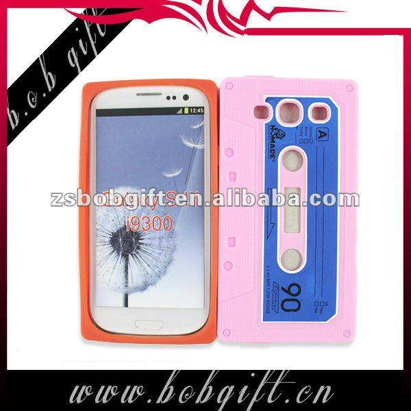 cassette tape case for mobile phone for samsung galaxy s3 i9300