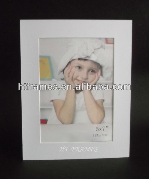 Newest cheap white silver stamp Logo cardboard picture frame 4x6 5x7 8x10 a4 with white envelop