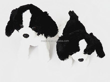 Sitting and lying lovely Soft baby plush toy Border collie dog