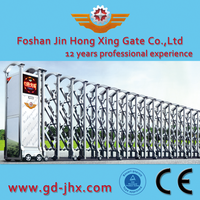 Stainless steel Electric sliding folding expandable main gate design 308B