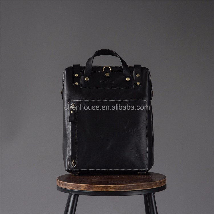 Exquisite Genuine Handmade Custom Printed Male Leather Messenger Shoulder Travel Man Bags For Men