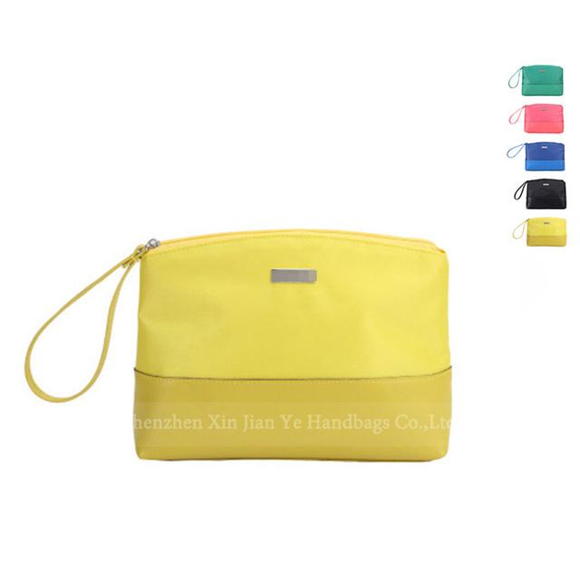 Convenient Blue Nylon Travel Kit Organizer Makeup Carrying Bag