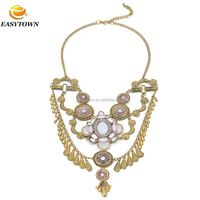 Statement luxry alloy fashion wedding female necklace