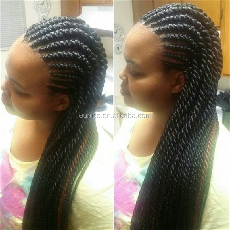 Cheap Crochet Hair Styles : Wholesale Afro Kinky Braiding Hair Crochet Braid Senegalese Twist Hair ...