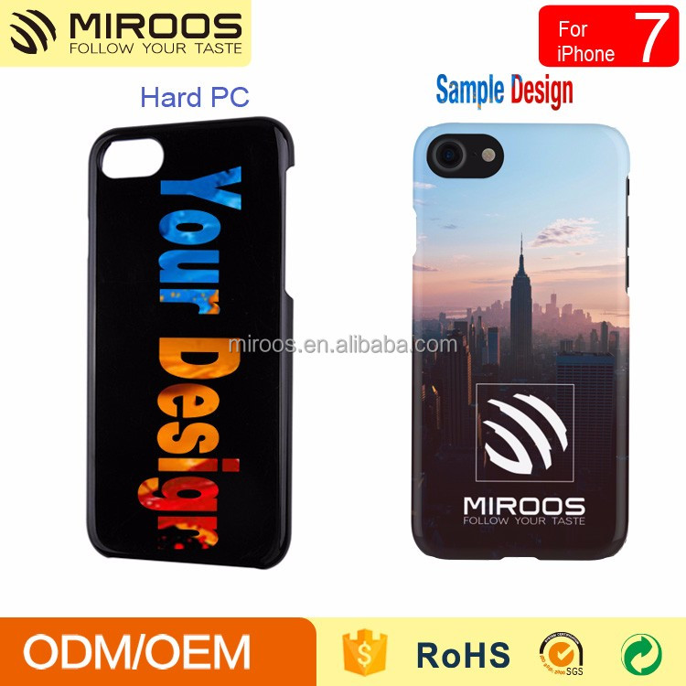 2016 Miroos customized decal printed Hard PC phone case for iphone 7 7 plus