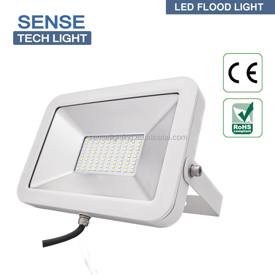 top quality 50W IP65 pure white outdoor slim flood lamp