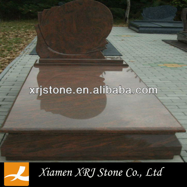 multi color red granite gravestone designs