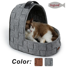Nature Felt Pet House Igloo Warm Dog Cat Cave for Winter