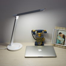 7 Levels Dimmable Smart Touch Table Lamps Foldable Charging Led Desk Lamp With USB Port