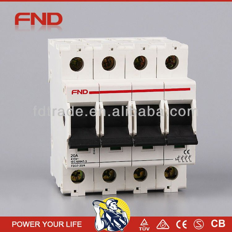 FND DD7-63 factory price dx mini circuit breaker