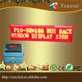 P10 Red GPRS wireless communication LED bus scrolling text image DISPLAY screen