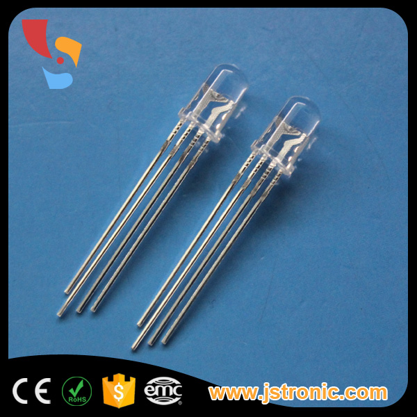 Super Bright common anode/cathode round 5mm 4-pin rgb led diode
