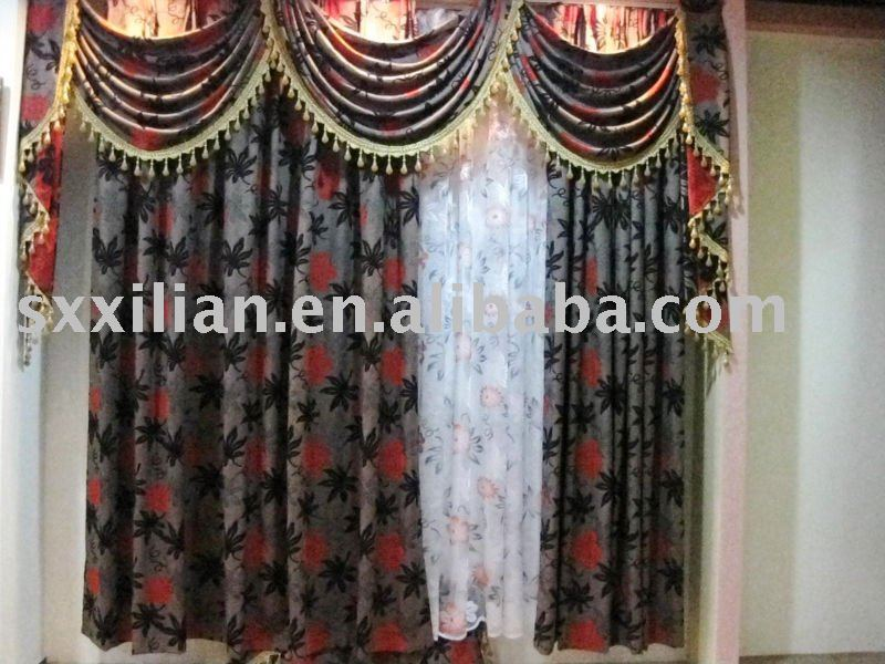knitting fabric european style window curtain