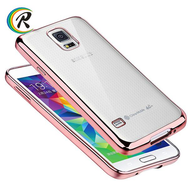 Gold case for samsung galaxy s4 mini i9190 Note 3 crystal plating bumper tpu case