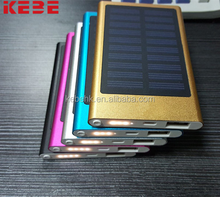 2017 hot selling wholesale external battery portable solar power solar charger power bank