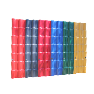 Chinese no deformation asa pvc plastic roof tile for residents