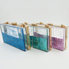 Beautiful Rectangle Clear Acrylic Box Clutches Fashion Bright Liquid Evening Bags