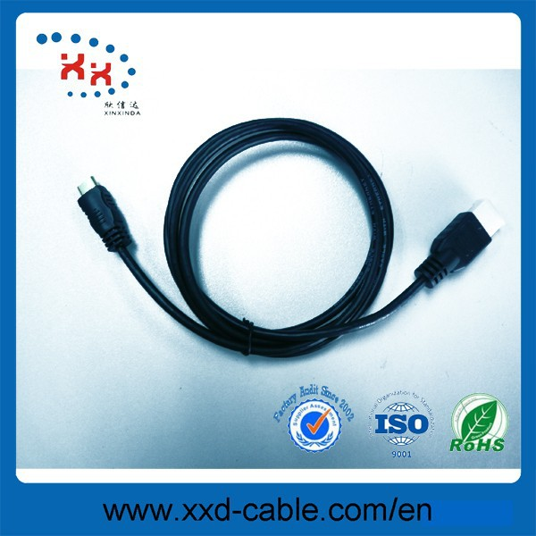New product Black 1080p Mini High Definition Multimedia Interface Data cable