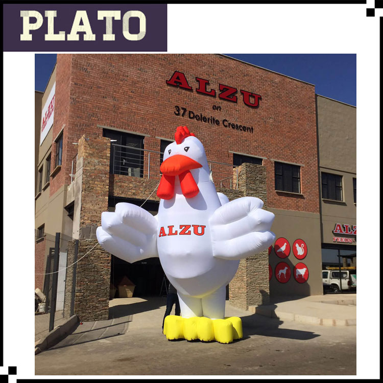 giant customized advertising inflatable rooster/chicken/cock for sale / inflatable mascot