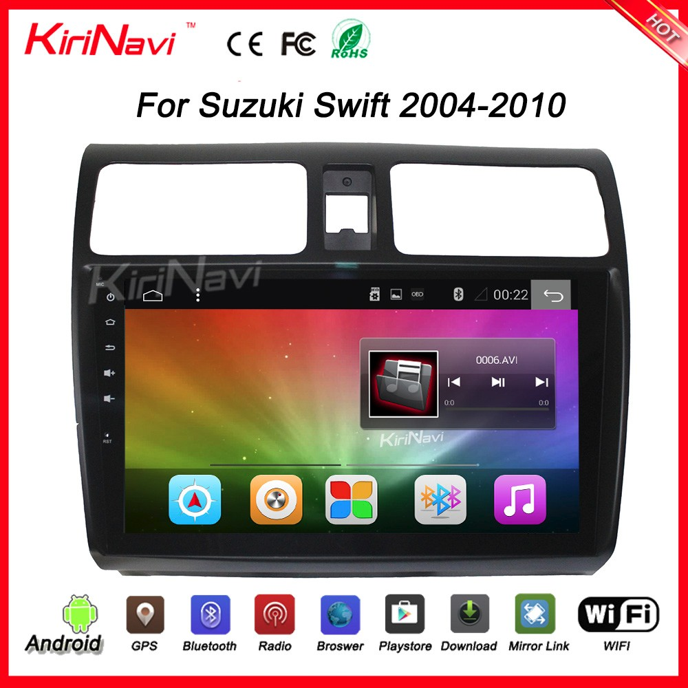 "Kirinavi WC-SS1004 10.2"" andriod 6.0 2 din car dvd gps for suzuki swift 2004 - 2010 USB bluetooth"