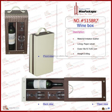 Wine box for 1 bottle wine tool with two glass cups