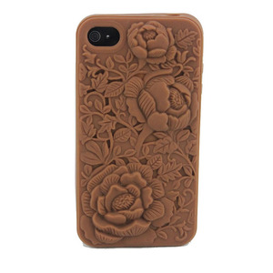 Wholesale 3d rose silicone mobile phone case