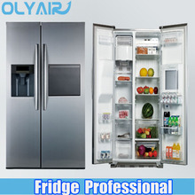 OLYAIR 512L 18.1CU.FT SIDE BY SIDE REFRIGERATOR TOTAL NO FROST WITH AUTOMATIC ICE MAKER AND HOME BAR
