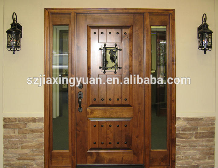 Traditional wooden single main door design buy wooden for Traditional main door design