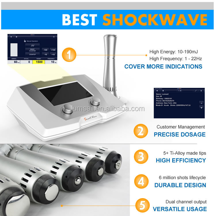 Physical ED therapy ed eswt shockwave sw8 extracoporeal shock wave therapy equipment li-eswt ed 1000 shock wave therapy buy