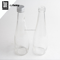 10oz 11oz high quality clear ball shaped water soda glass bottle with aluminium tamperproof cap