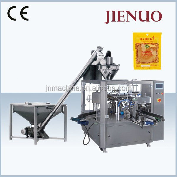 Low Cost Rotary Filling Food Masala Powder Packing Machine