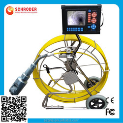 "Underwater Sewer Pipe Inspection Camera System with video Recording DVR Rotating head mini camera for DN 2.36""-15.75"""