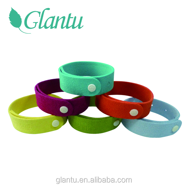 Non Toxic All Natural Mosquito Insect Repellent Bracelets Kids safe ultra mocrofiber hand band