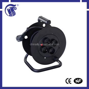 European style high quality small retractable plastic spring cable reel