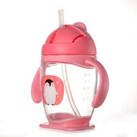 Wholesale Bpa Free Children PP Plastic Drinking Bottle Plastic Baby Water Bottle With Straw
