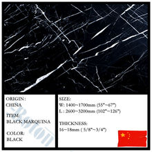 =MARBLE SLAB= CHINA BLACK MARQUINA ON SELL/ ELEGANT BLACK AND WHITE