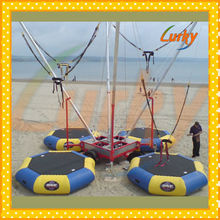 Kids and adults outdoor trailer bungee for sale, Trampoline bungee with inflatable bed