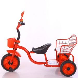 new three wheel bicycle with 2 seat children tricycle