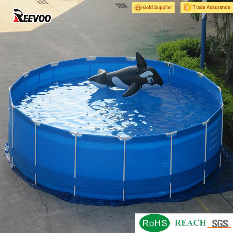 Round Pvc Canvas Swimming Pool For Kids,Garden Swimming Pool ...