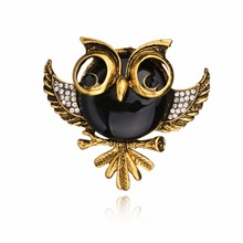 Fashion Brooch Cute Owl Brooch With Crystal For Women Gift