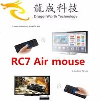 RC7 2.4G USB Wireless Keyboard Gyroscope Air Fly Mouse for Mini PC Android TV Box