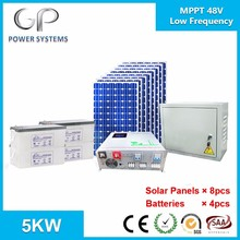 GP low frequency off grid home solar system 5000w 48v mppt inverter 250w panel