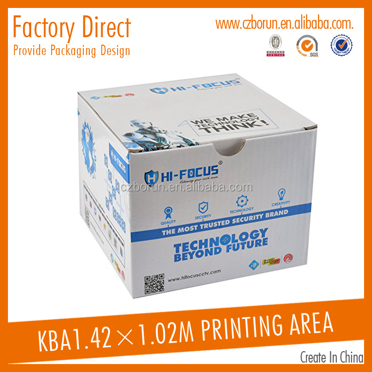 Customized hot-sale corrugated paper camera packaging box moving box design