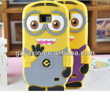 Minion case for samsung galaxy s2 i9100,for samsung galaxy s2 silicon case