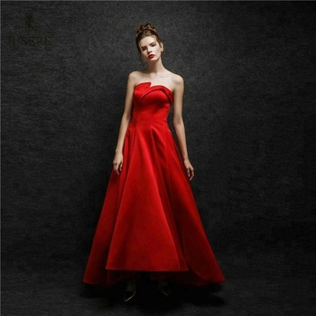 Red Satin Dance Party Dresses For Graduation
