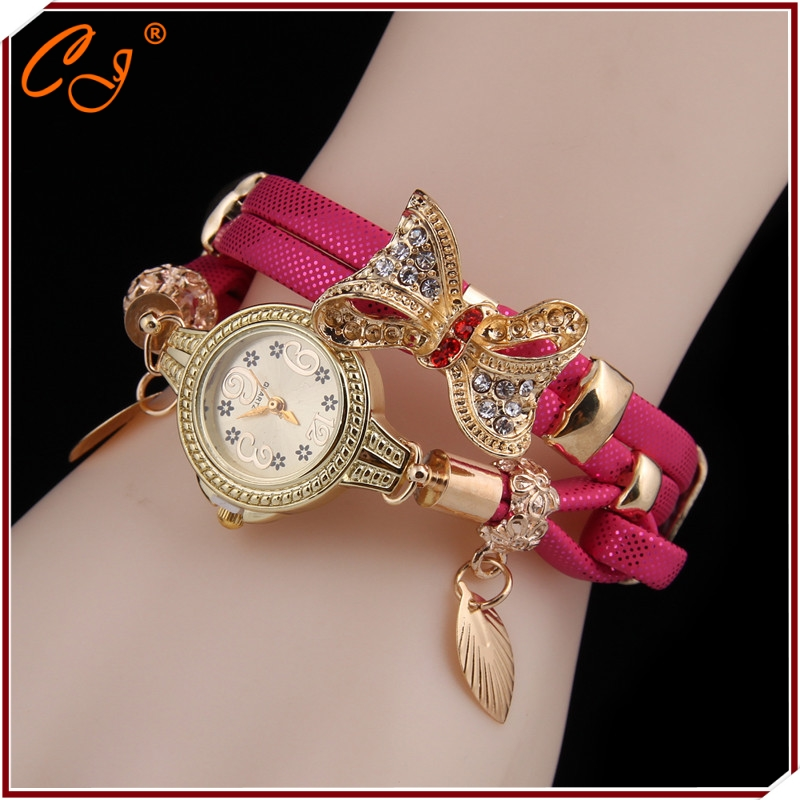European And American fashion Lady Bowknot Retro Bracelet Women Watches